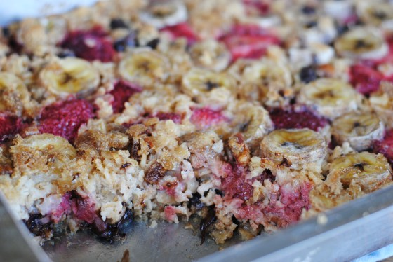 strawberry and cchip baked oatmeal