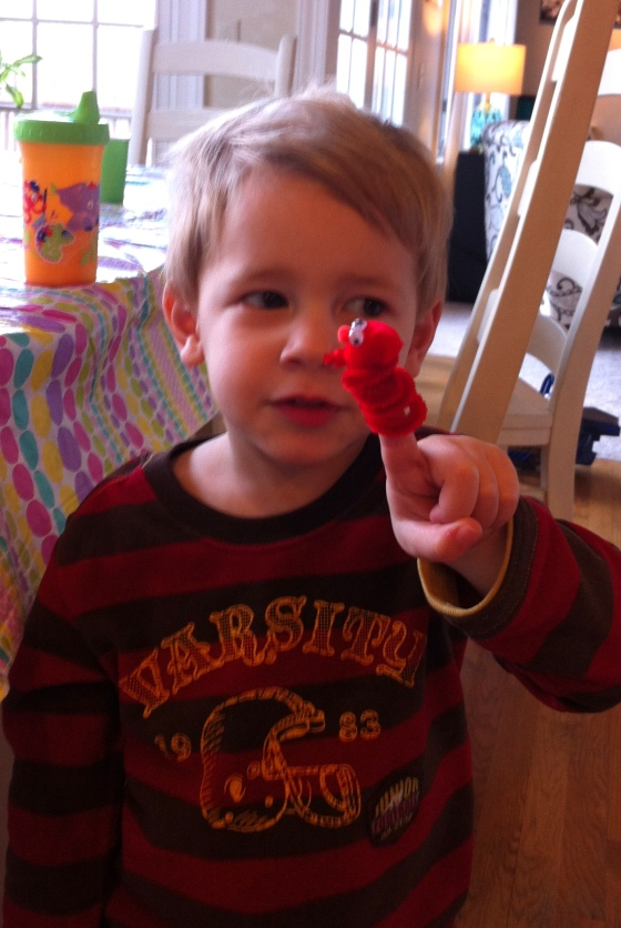 c with finger elmo