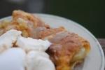 apple dumplings with ice cream
