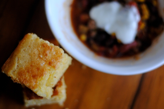 taco soup and cornbread